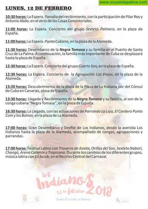 Programa de Los Indianos de La Palma 2018 - Santa Cruz de La Palma