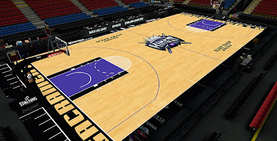 NBA 2K14 Sacramento Kings Court HD Court Mod