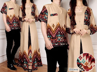 model baju batik couple pesta