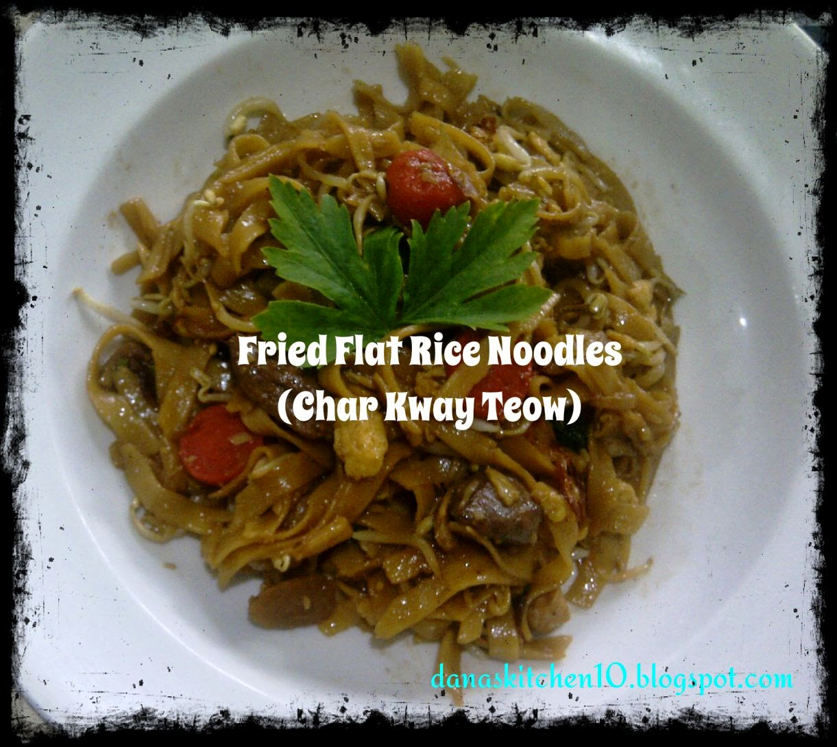 Danas Kitchen Fried Flat Rice Noodles with Beef  Char