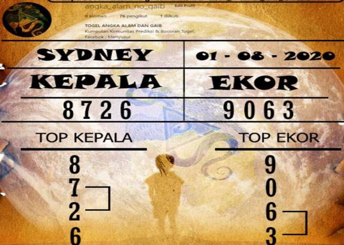 Kode syair Sydney Sabtu 1 Agustus 2020 160