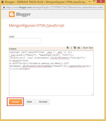 Cara Menampilkan Jumlah Visitor Di Blog