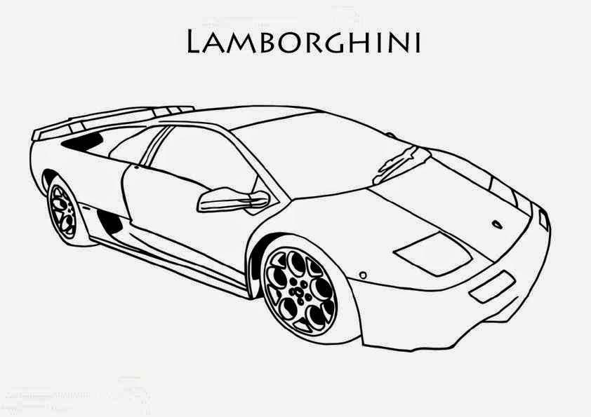 Coloriage Lamborghini Galardo Yellow