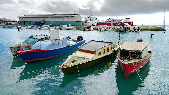 At the Nuku'alofa harbour