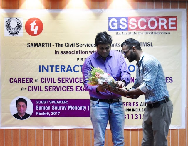 GS Score Organizes 'Shower Of Thoughts' With IAS Topper