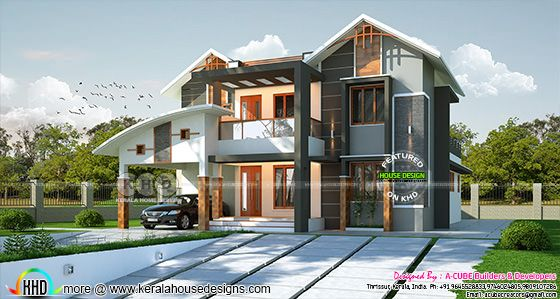 2900 square feet 4 bedroom mixed roof contemporary home