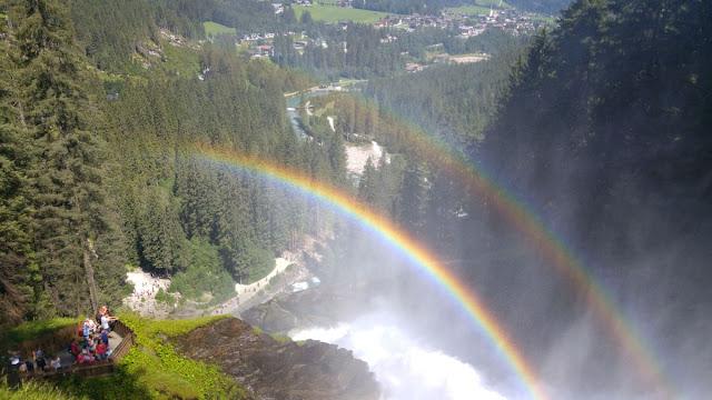 קשת מפלים כפולה - מפלי קרימל - אוסטריה