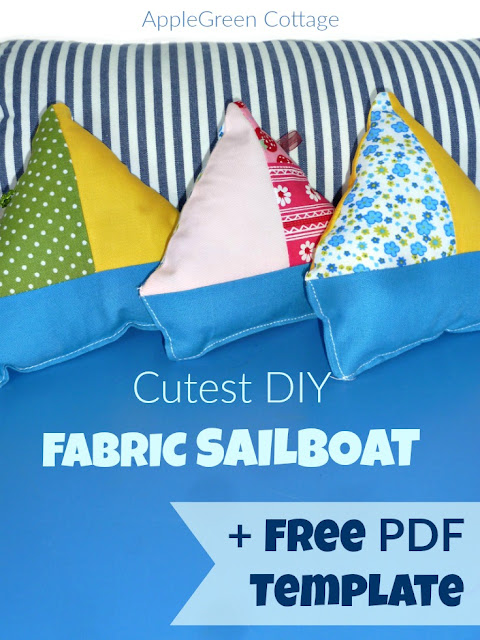 These homemade sailboat softies are a great and quick beginner sewing project and so much fun to sew! Get your free printable PDF template and sew tons of these adorable softies!