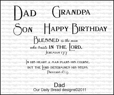 "Our Daily Bread designs ""Dad"" set"