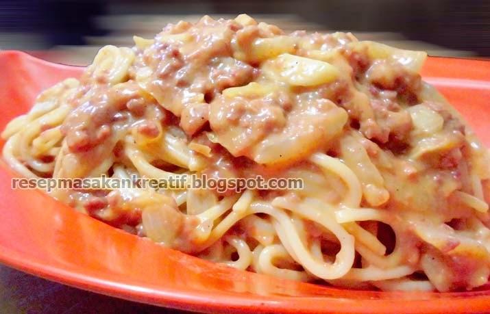 Cara Membuat Spaghetti Saus Tomat Kornet RESEP SPAGHETTI SAUS TOMAT KORNET