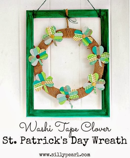 Washi Tape Clover St. Patrick's Day Wreath