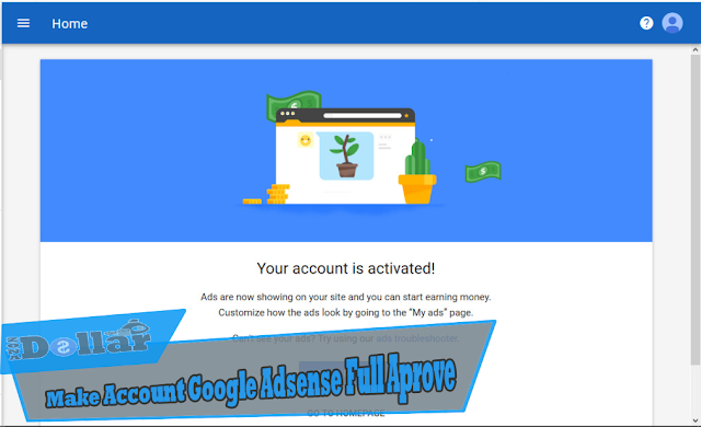 Make account google adsense full approve