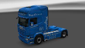 Scania RJL Blue V8 Skin