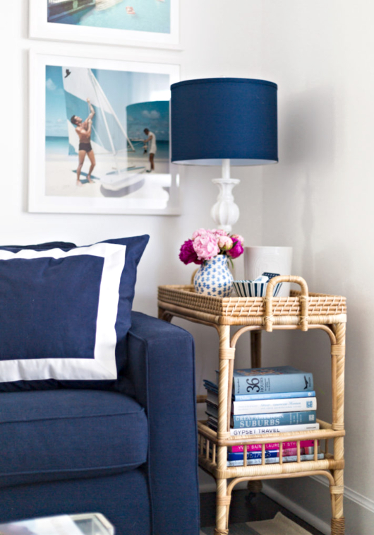 Navy Blue Sectional from Pottery Barn