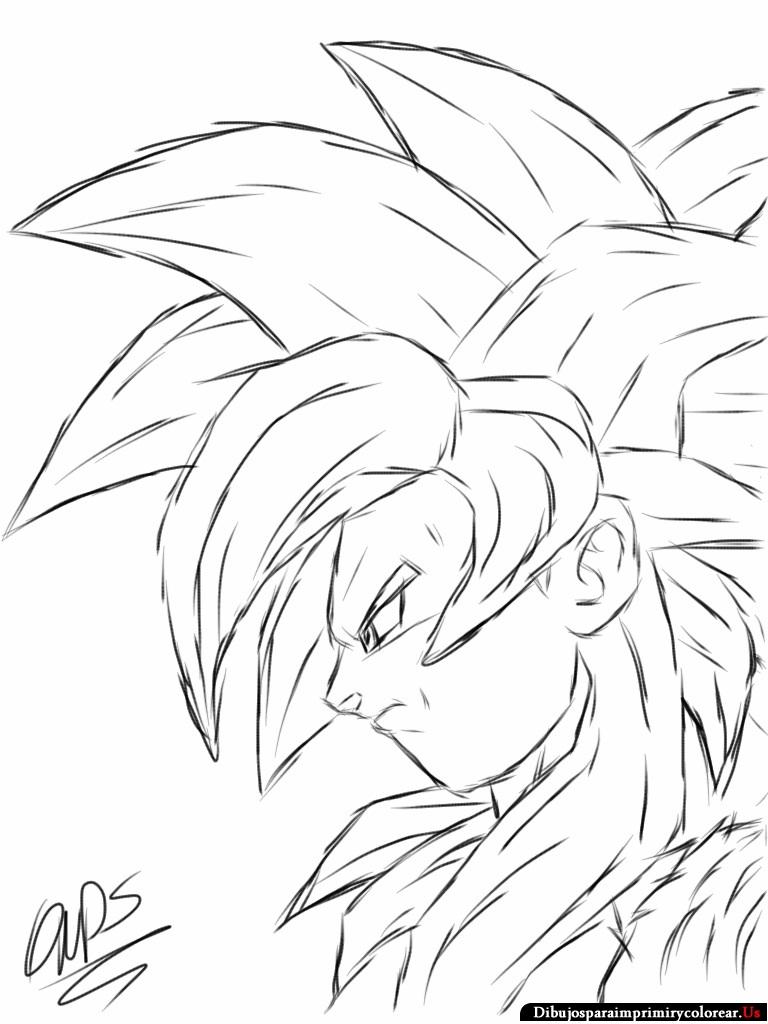 Dibujos Para Colorear De Dragon Ball GT