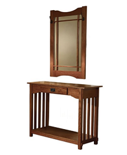 Craftsman Style Console and Mirror