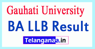 Gauhati University BA LLB Result