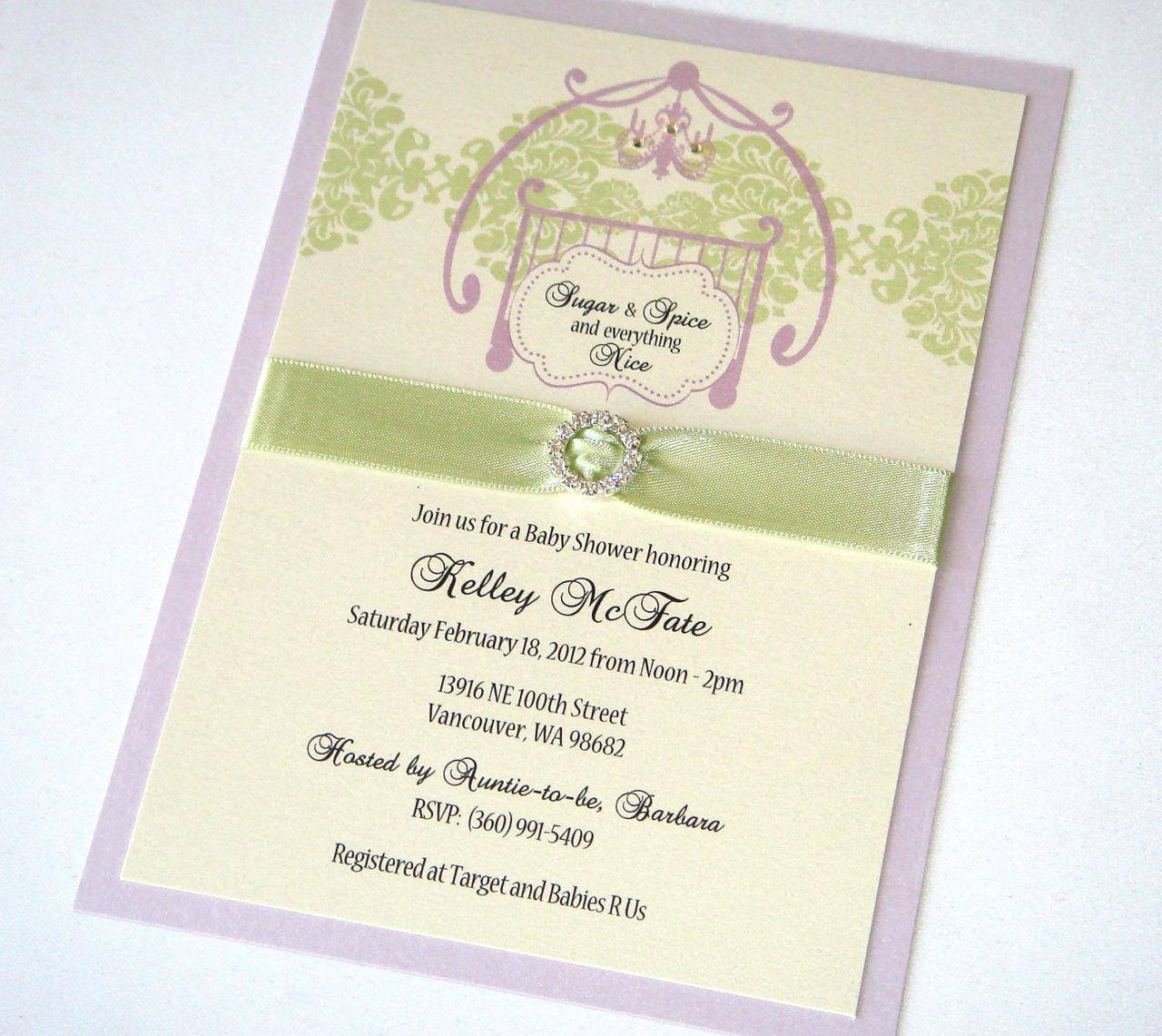 Sugar And Spice Baby Shower: Embellished Paperie: Sugar And Spice Baby Shower Invites