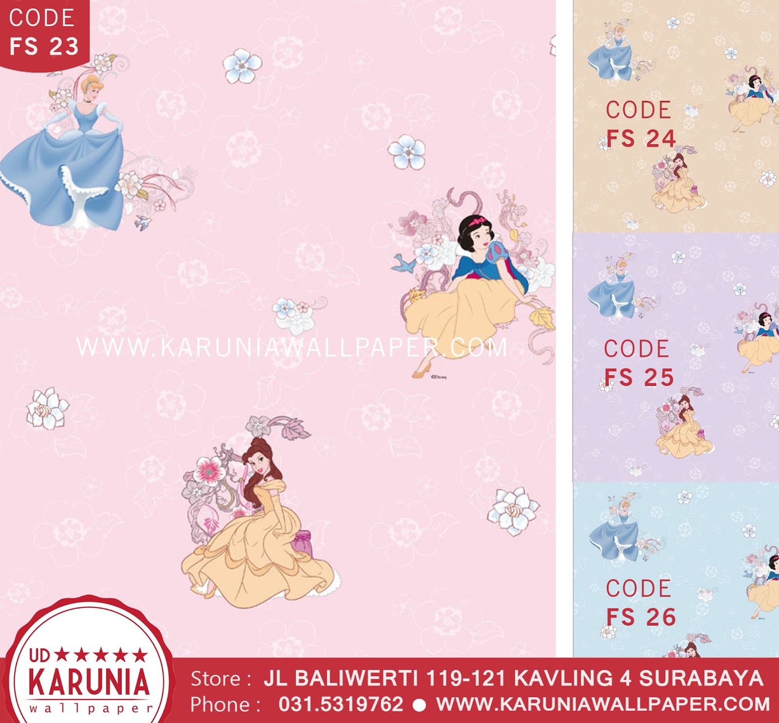 jual wallpaper disney princess anak karuniawallpaper