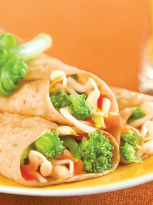 Sprouts and Veggies Wrapes