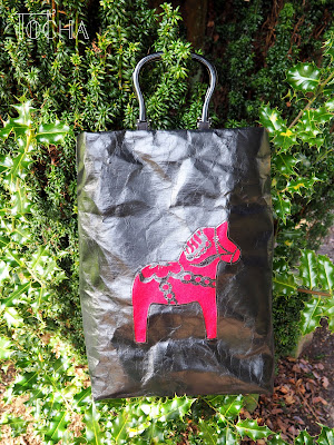 bag, Dala horse, Dalahäst, felt, handbag, paper, Scandinavia, Scotland, shine, Sweden, vegan, washable paper, washpapa, rocking horse, Vivienne Westwood, Melissa, folklore, Balloch