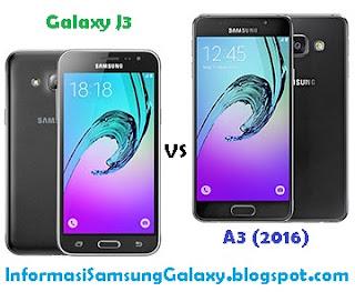 Samsung Galaxy J3 vs A3 (2016) Harga dan Spesifikasi