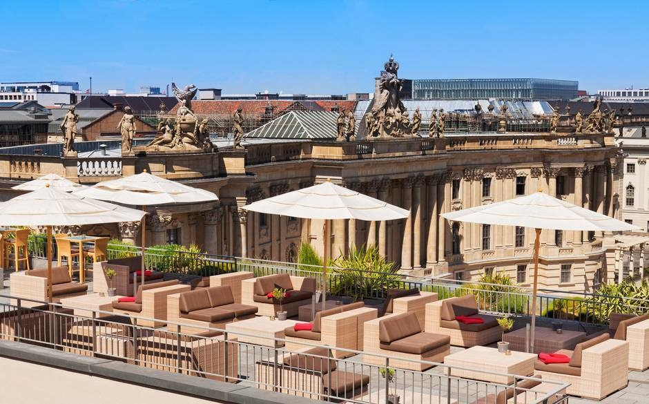The World's 30 Best Rooftop Bars… Everyone Should Drink At #9 At Least Once. - The Hotel de Rome rooftop overlooks the historic city centre of Berlin, Germany.