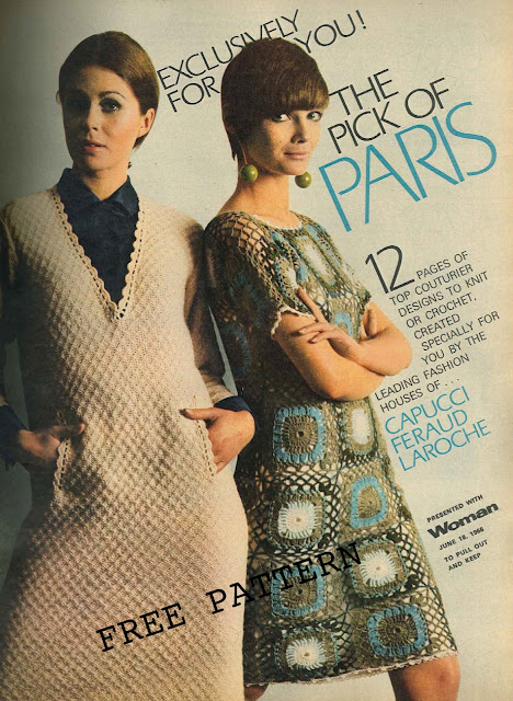 The Vintage Pattern Files: Free 1960's Knitting & Crochet Patterns - Paris Designs