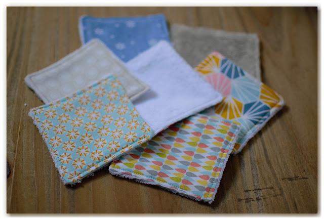 cotons lavables en tissu et éponge velours bambou