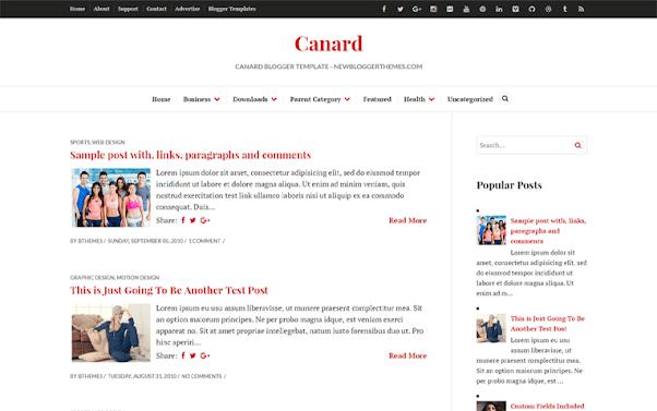 Canard Free Blogger Template
