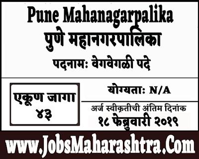 Pune Mahanagarpalika Recruitment 2019