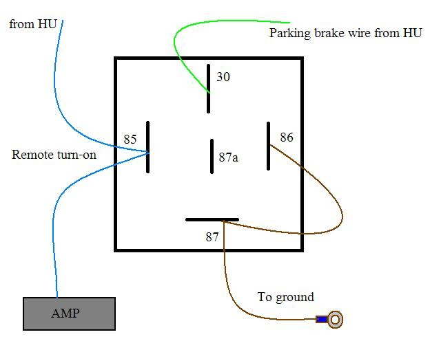 Wiring Diagram Source: Pioneer Parking Brake Bypass Wiring