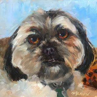 oil painting, pet portrait, dog portrait, pet memorial