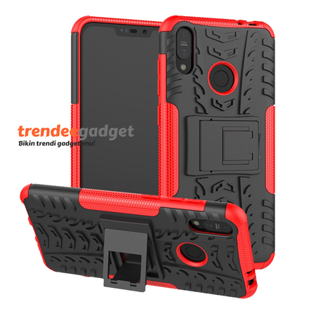 Hybrid Armor Case Asus Zenfone Max Pro M2 ZB631KL with Stand Holder