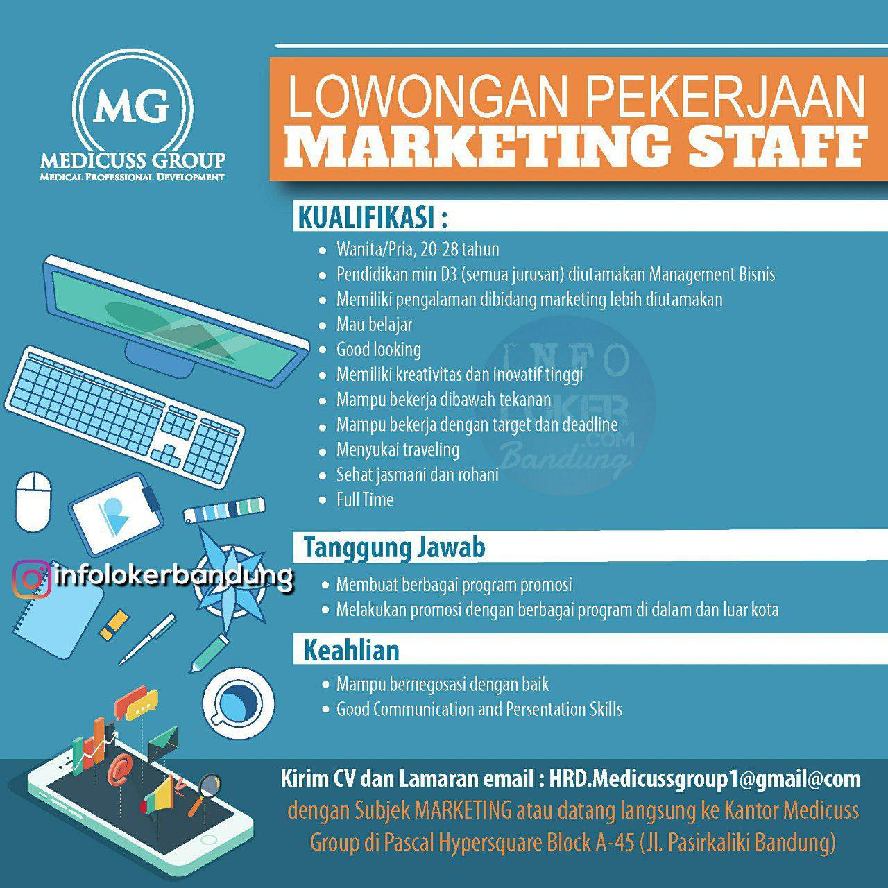 Lowongan Kerja Medicuss Group Bandung Oktober 2018