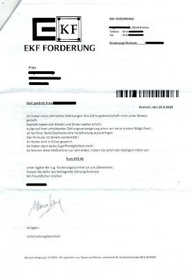 Beitragsbild: Anschreiben EKF Forderung, Bremen, 26.08.2016
