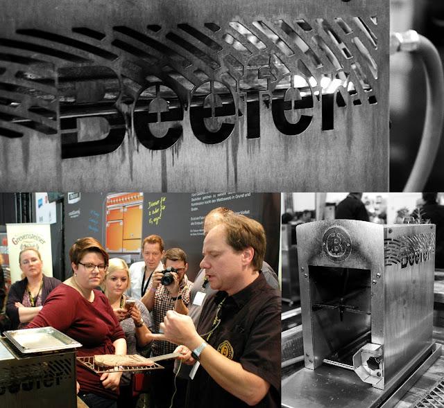 Frank Hecker, einer der drei Erfinder und Baumeister des Beefer, erläutert das Grillgerät. h #Food #OttoGourmet