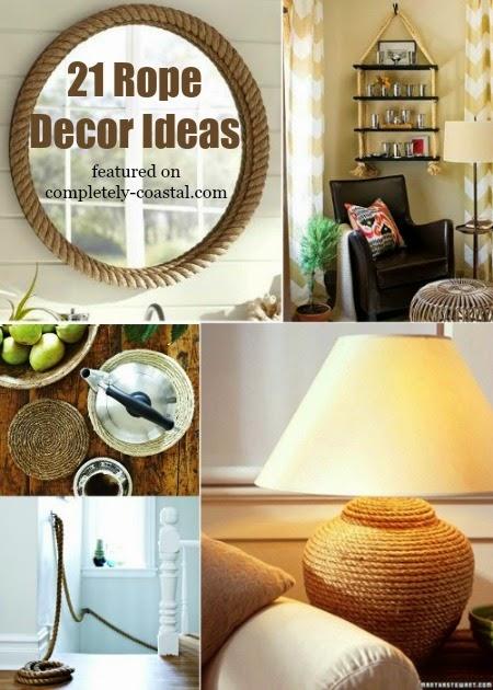 Perfect 21 Nautical Rope Decor & Craft Ideas - Coastal Decor Ideas and  FJ62