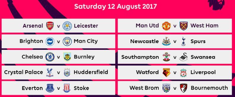 Jadwal lengkap liga inggris 2017 2018 romeltea media jadwal lengkap liga inggris 20172018 stopboris Images