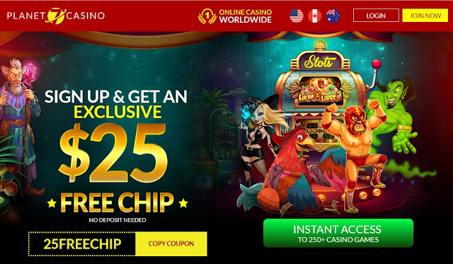 $25 free chips from Planet7 casino