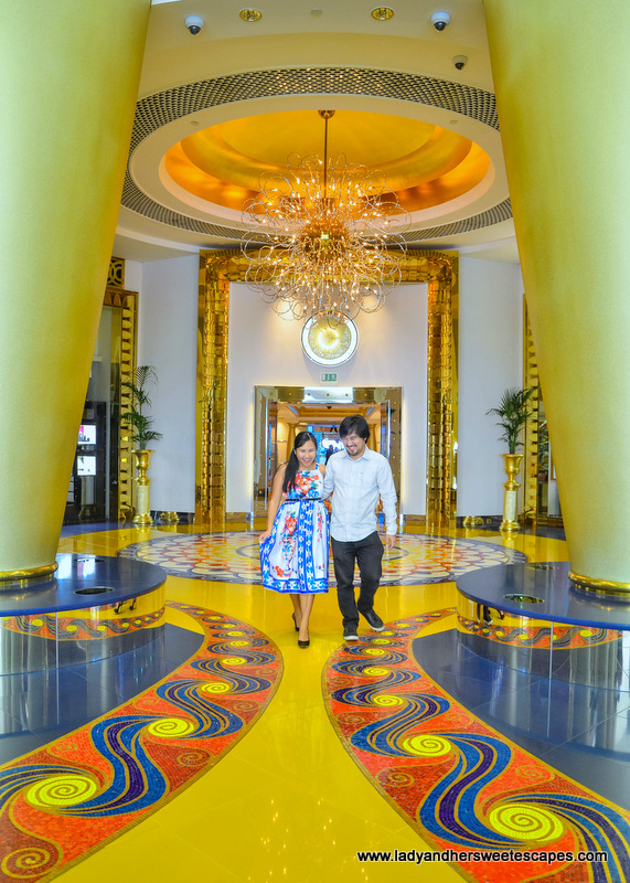 Ed and Lady in Burj Al Arab Dubai