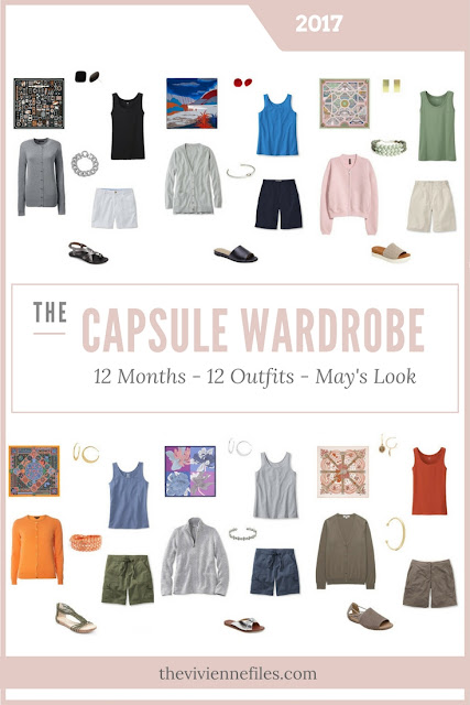 Build a Capsule Wardrobe in 12 Months, 12 Outfits - May 2017