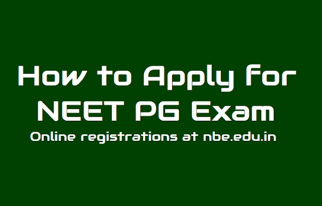 how to apply for neet pg 2019, neet pg online registration last date,neet pg exam date,neet pg results date announced
