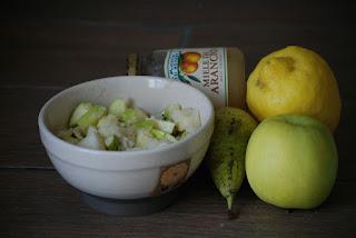 Obst, Obstsalat, Orangenhonig, Paleo, Kokos
