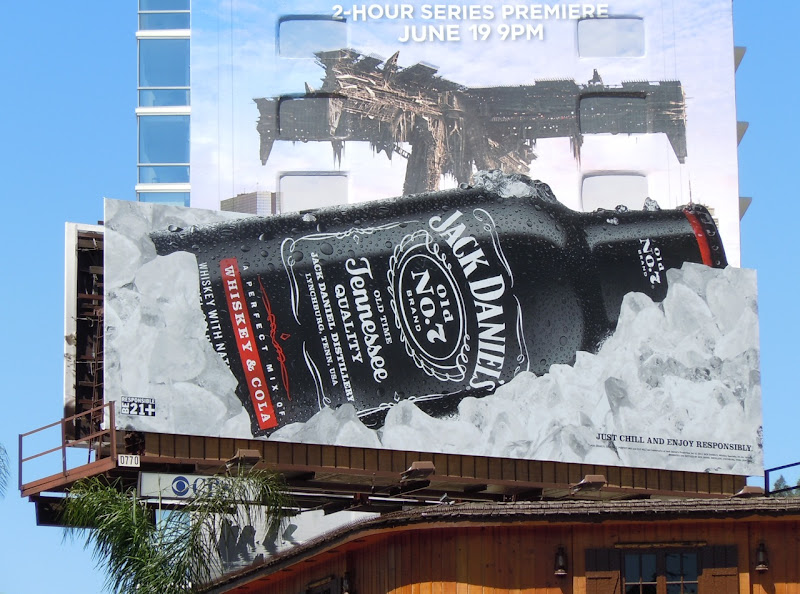Jack Daniels Whisky and Cola  bottle billboard
