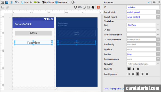 Design activity_main.xml Android Studio