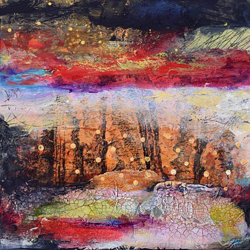 image transfers, landscape, music