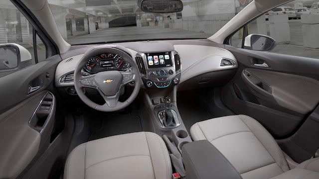 Novo Chevrolet Cruze 2017 - interior