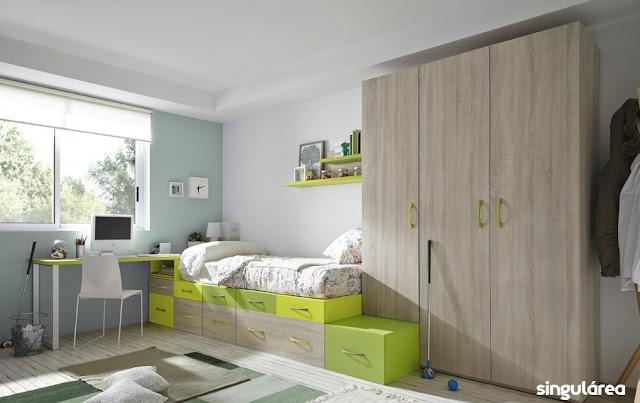 Dormitorio juvenil modular 1736 - Dormitorios infantiles valencia ...