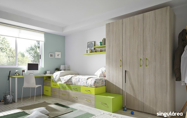 Blog dormitorios juveniles com c mo elegir el color - Dormitorio juvenil nino ...